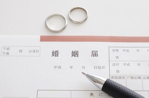 婚姻届けと結婚指輪