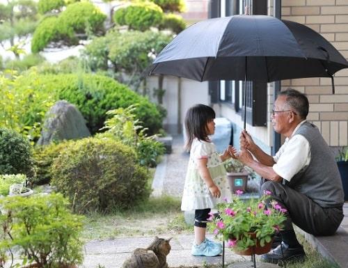 孫と遊ぶおじいちゃん