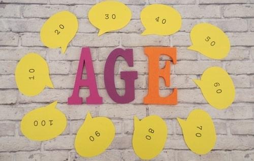年齢を意識する